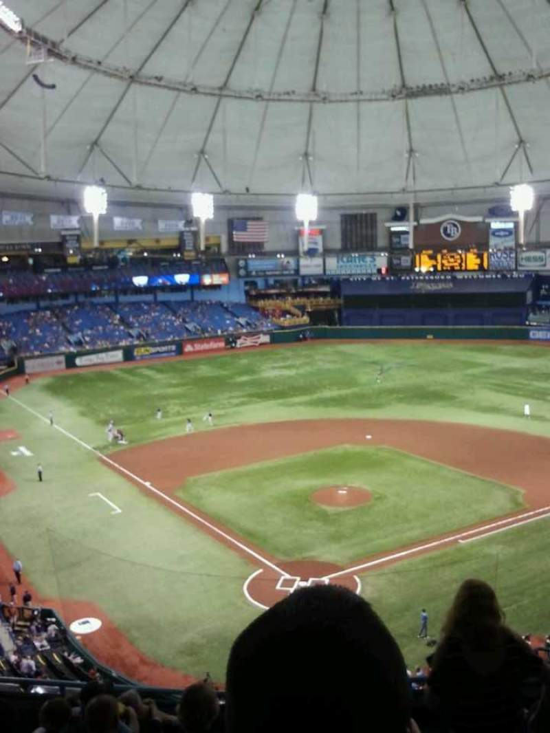 Seating view for Tropicana Field Section 302 Row h Seat 9