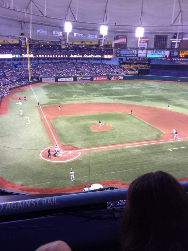 Seating view for Tropicana Field Section 306 Row B Seat 10