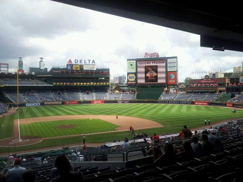Seating view for Turner Field Section 205B Row 14 Seat 5