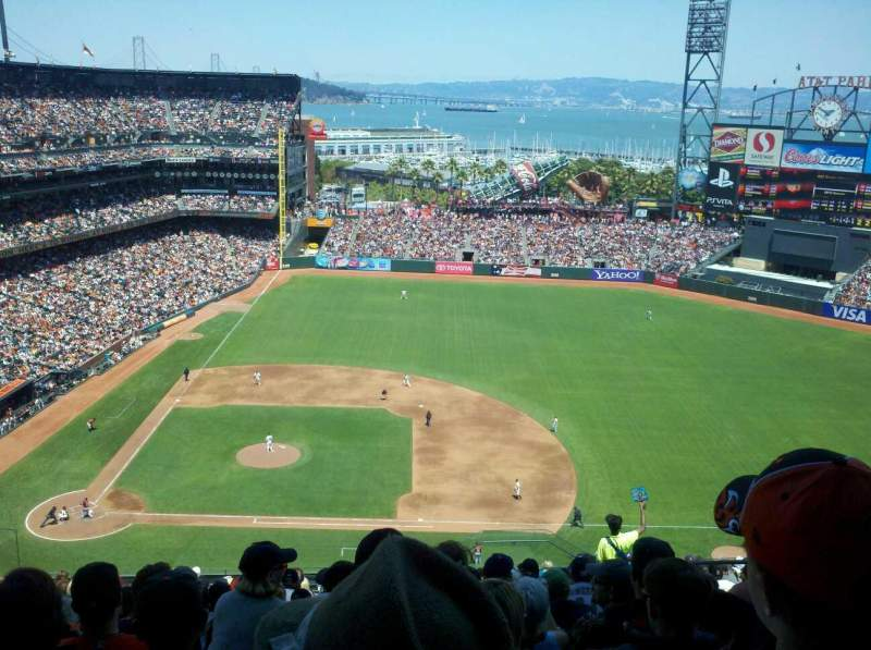 Seating view for AT&T Park Section 308 Row 16 Seat 6
