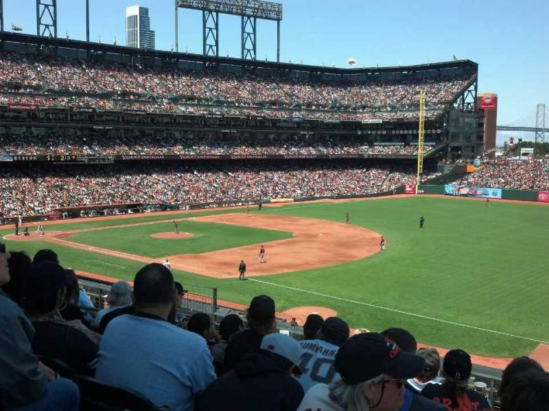 Seating view for AT&T Park Section 202 Row f Seat 2