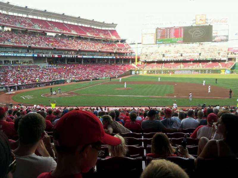 Seating view for Great American Ball Park Section 130 Row kk Seat 11