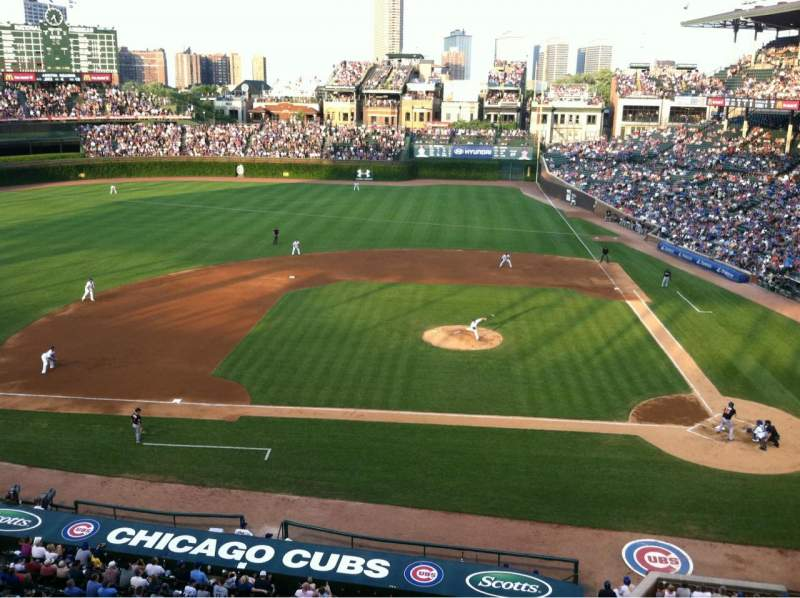 Seating view for Wrigley Field Section 415 Row 1 Seat 3