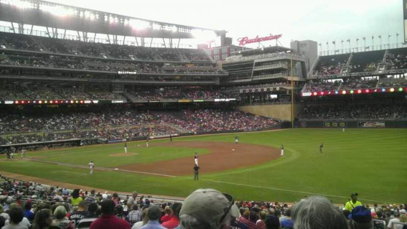 Seating view for Target Field Section 104 Row 35 Seat 3