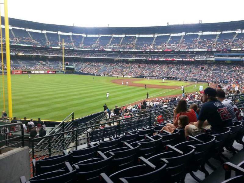 Seating view for Turner Field Section 230 Row 5 Seat 3
