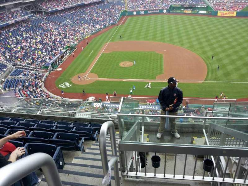 Seating view for Nationals Park Section 419 Row g Seat 27