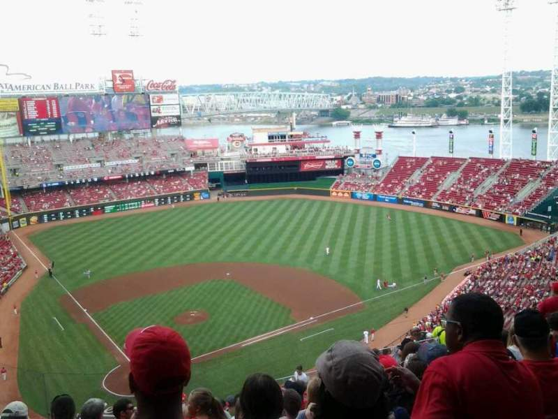 Seating view for Great American Ball Park Section 526 Row P Seat 14