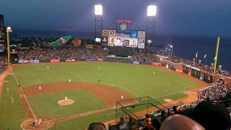 Seating view for AT&T Park Section 312 Row 5 Seat 6