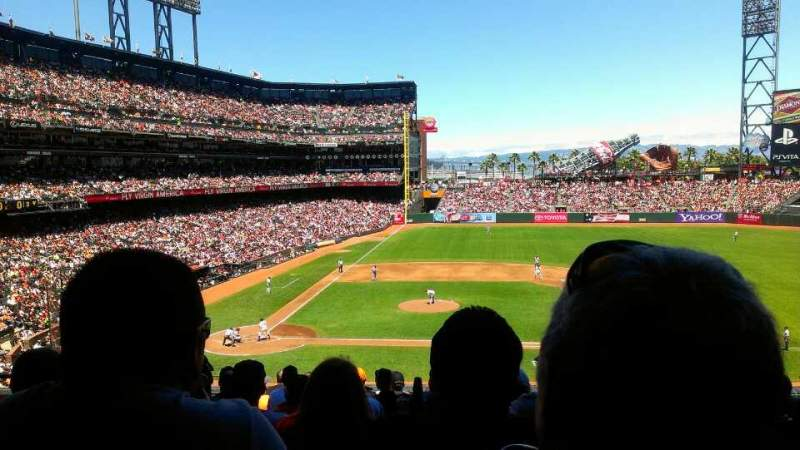 Seating view for AT&T Park Section 209 Row L Seat 10