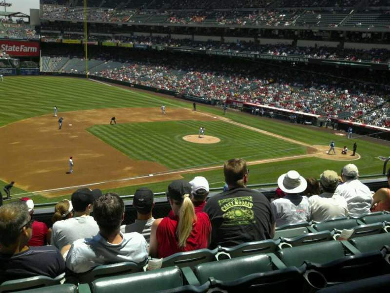 Seating view for Angel Stadium Section C315 Row f Seat 1