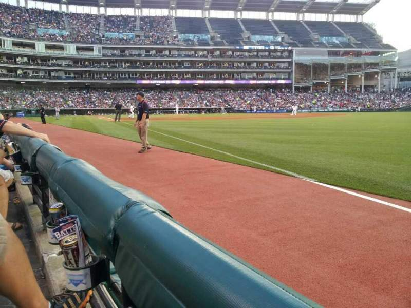 Seating view for Progressive Field Section 128 Row 1 Seat 7