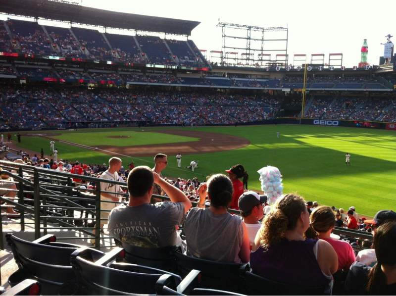 Seating view for Turner Field Section 223R Row 5 Seat 6