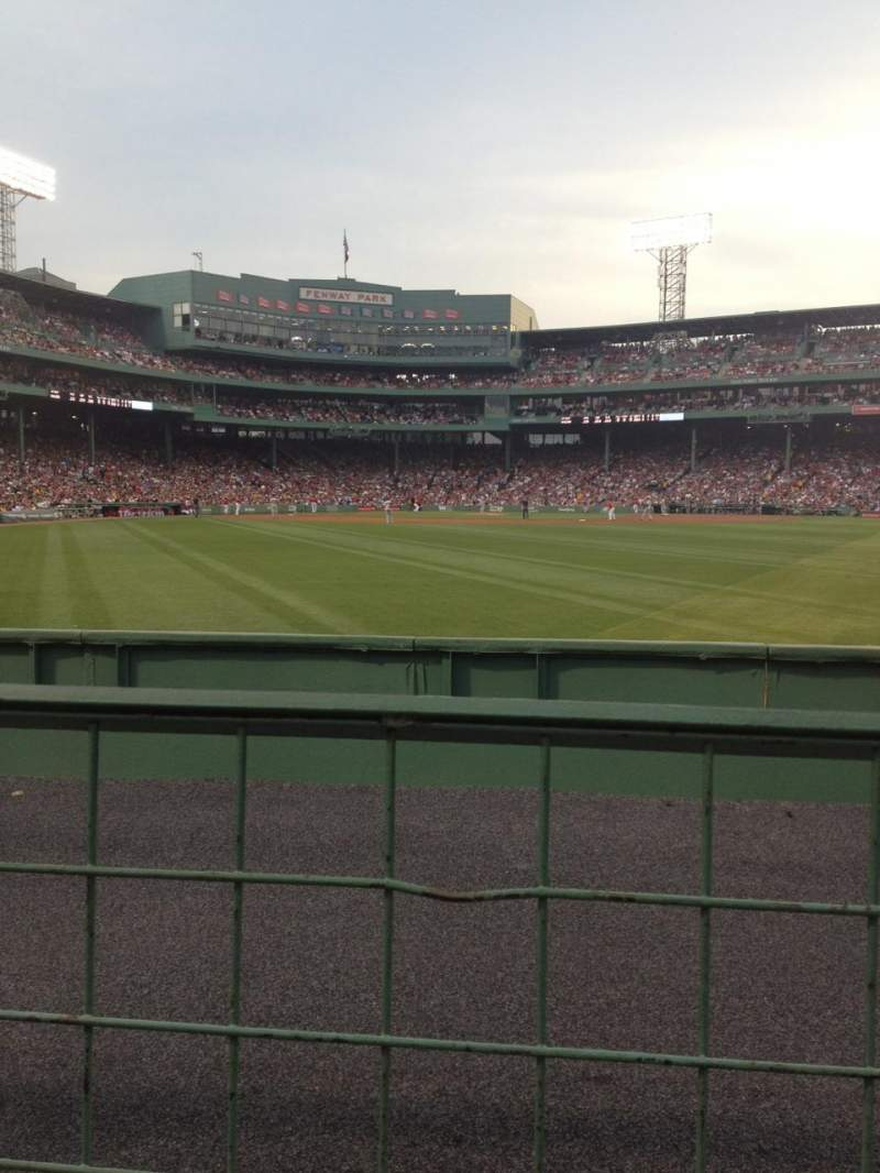 Seating view for Fenway Park Section Bleacher 41 Row 1 Seat 1