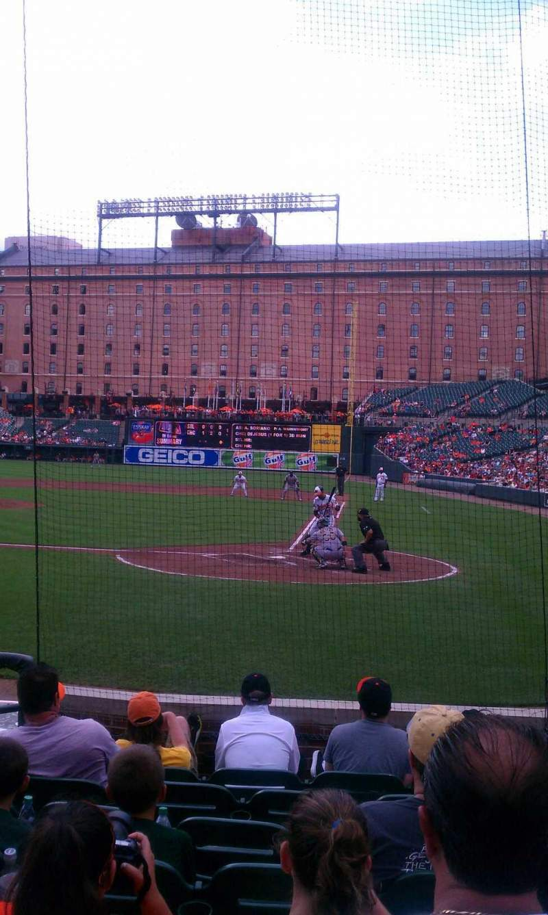 Seating view for Oriole Park at Camden Yards Section 44 Row 8 Seat 5