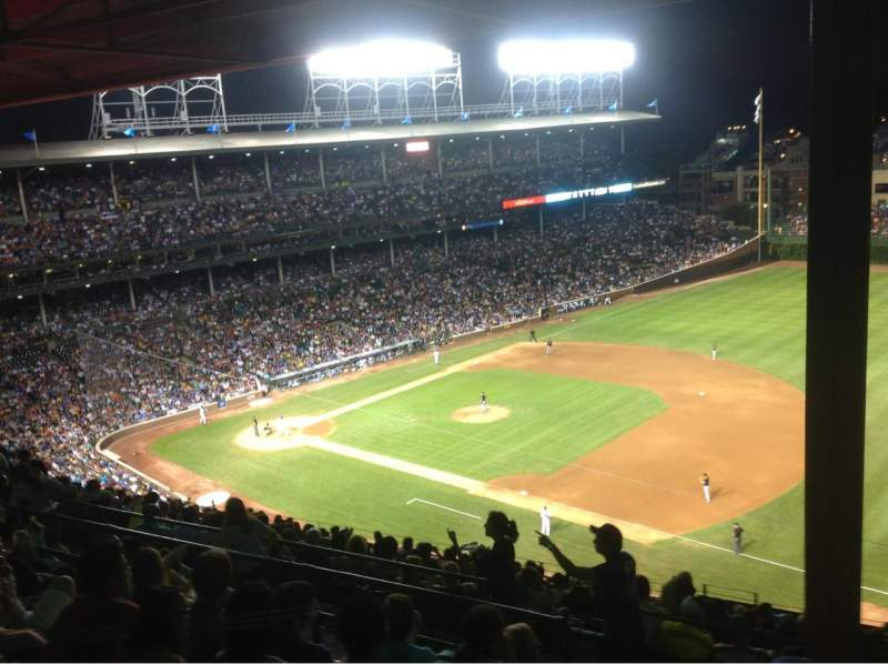 Seating view for Wrigley Field Section 533 Row 6 Seat 2