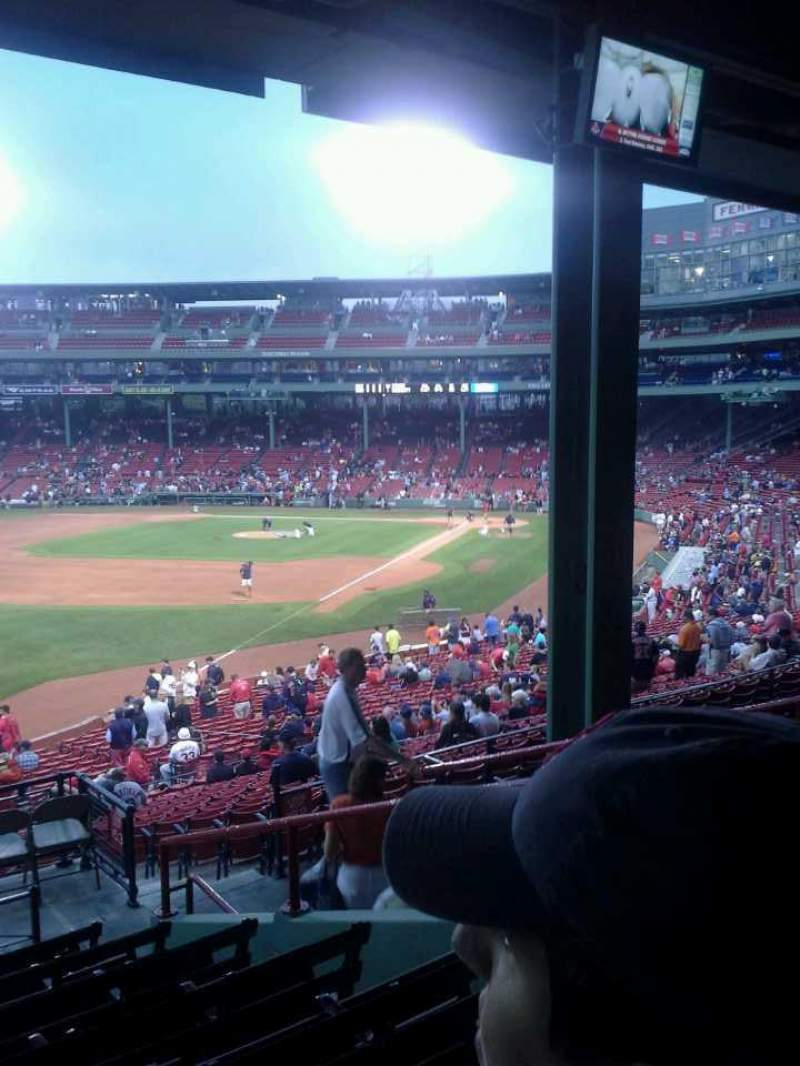 Seating view for Fenway Park Section Grandstand 32 Row 9 Seat 9