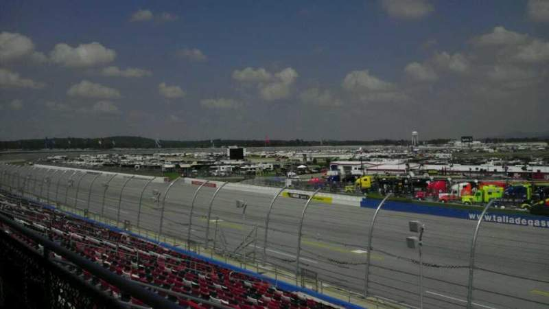 Seating view for Talladega Superspeedway Section m Row 27 Seat 2