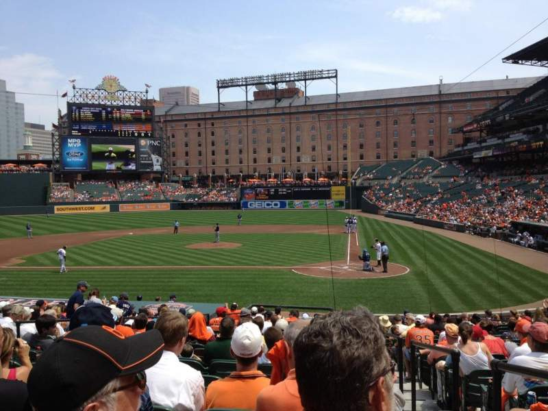 Seating view for Oriole Park at Camden Yards Section 46 Row 20 Seat 1