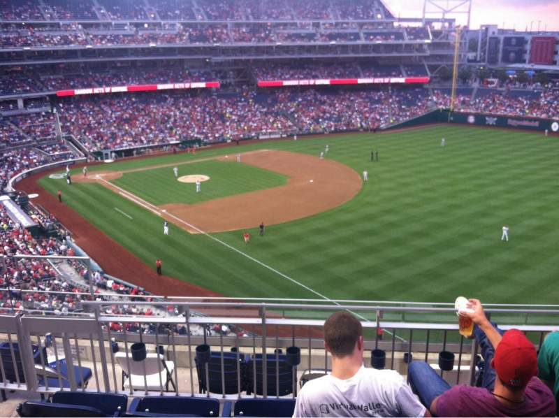 Seating view for Nationals Park Section 228 Row G Seat 13