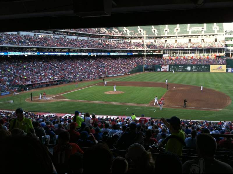 Seating view for Globe Life Park in Arlington Section 134 Row 37 Seat 17