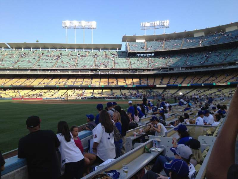 Seating view for Dodger Stadium Section 45FD Row C Seat 11