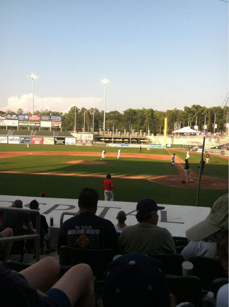 Seating view for Palisades Credit Union Park Section 106 Row E Seat 4
