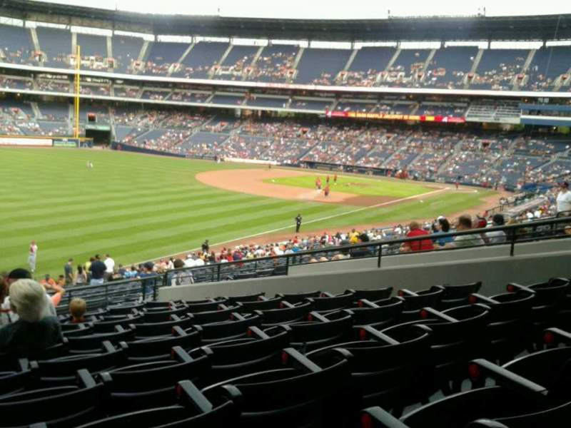 Seating view for Turner Field Section 228 Row 9 Seat 1