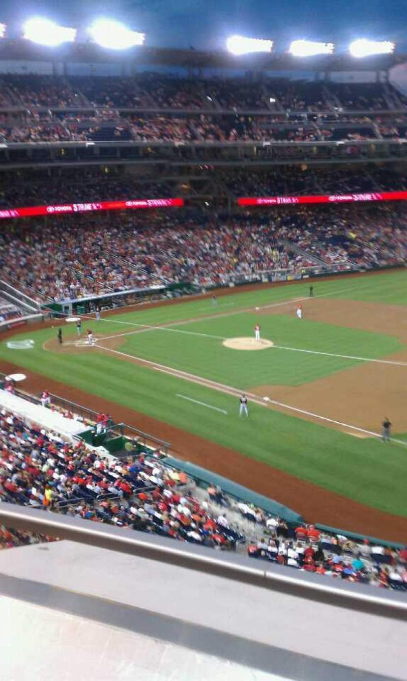 Seating view for Nationals Park Section 222 Row A Seat 5