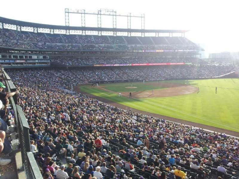 Seating view for Coors Field Section 214 Row 1 Seat 1