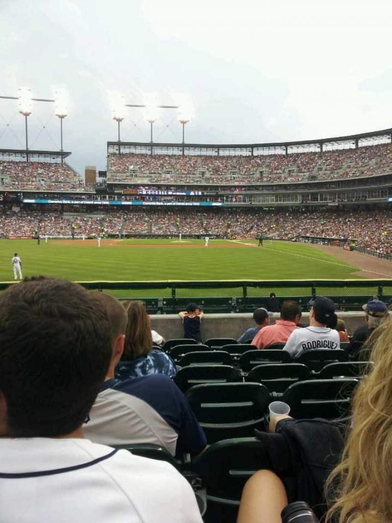 Seating view for Comerica Park Section 147 Row H Seat 23