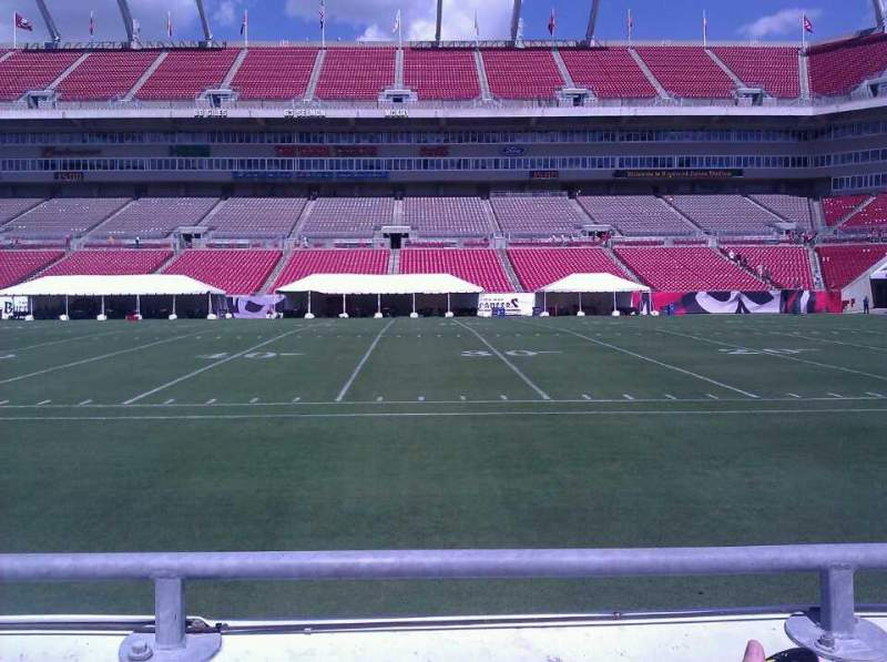 Seating view for Raymond James Stadium Section 112 Row b Seat 4