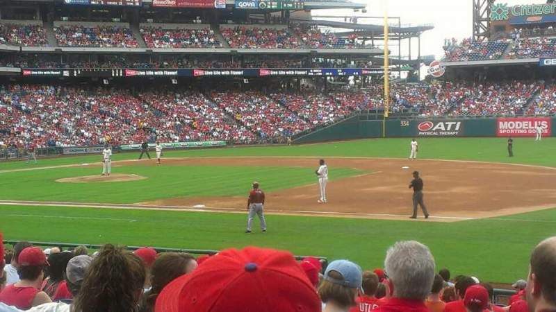 Seating view for Citizens Bank Park Section 114 Row 20 Seat 2