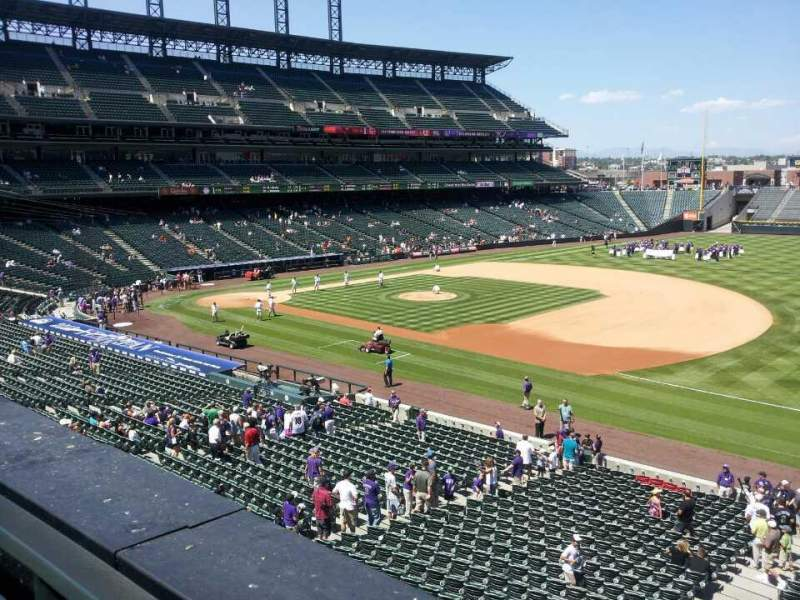 Seating view for Coors Field Section 218 Row 1 Seat 10