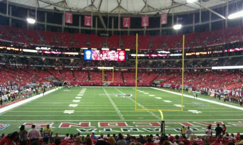 Seating view for Georgia Dome Section 106 Row 24 Seat u