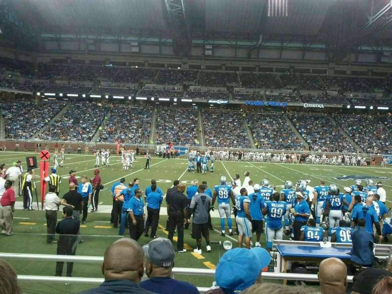 Seating view for Ford Field Section 105 Row 4 Seat 2