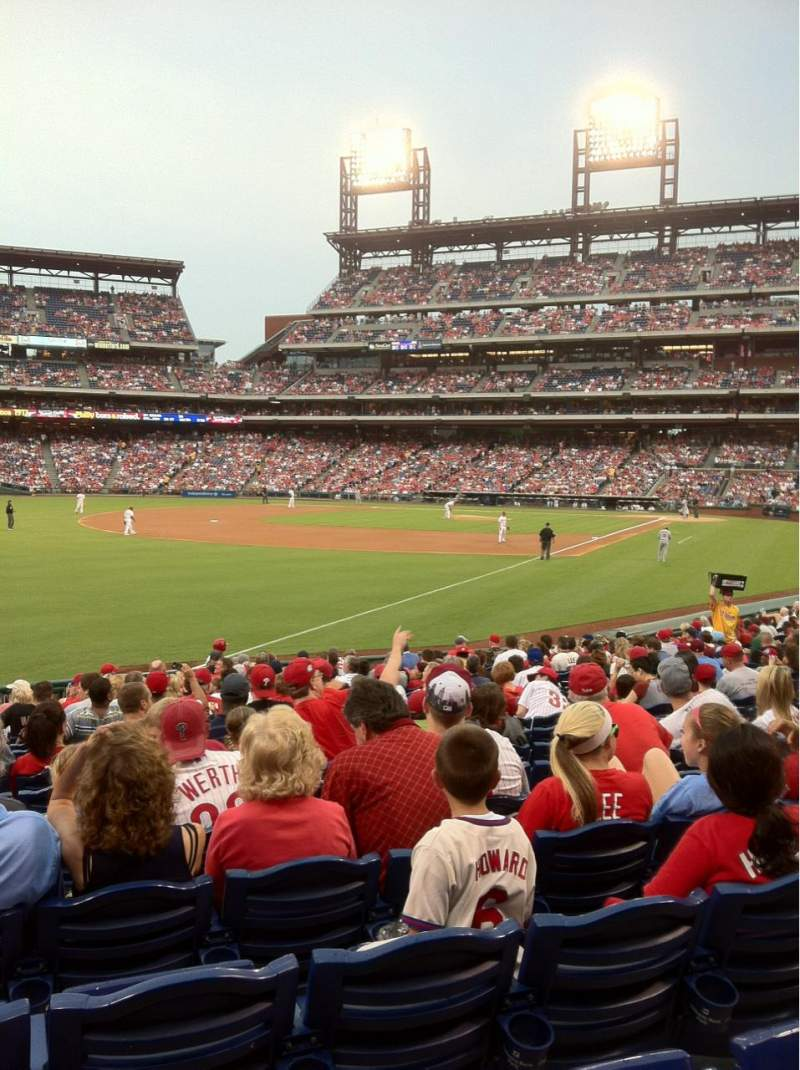 Seating view for Citizens Bank Park Section 138 Row 22 Seat 13