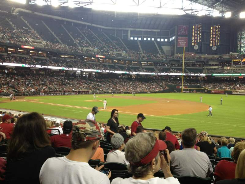 Seating view for Chase Field Section 113 Row 25 Seat 12