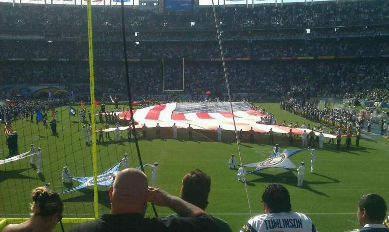 Seating view for Qualcomm Stadium Section P52 Row 3 Seat 11