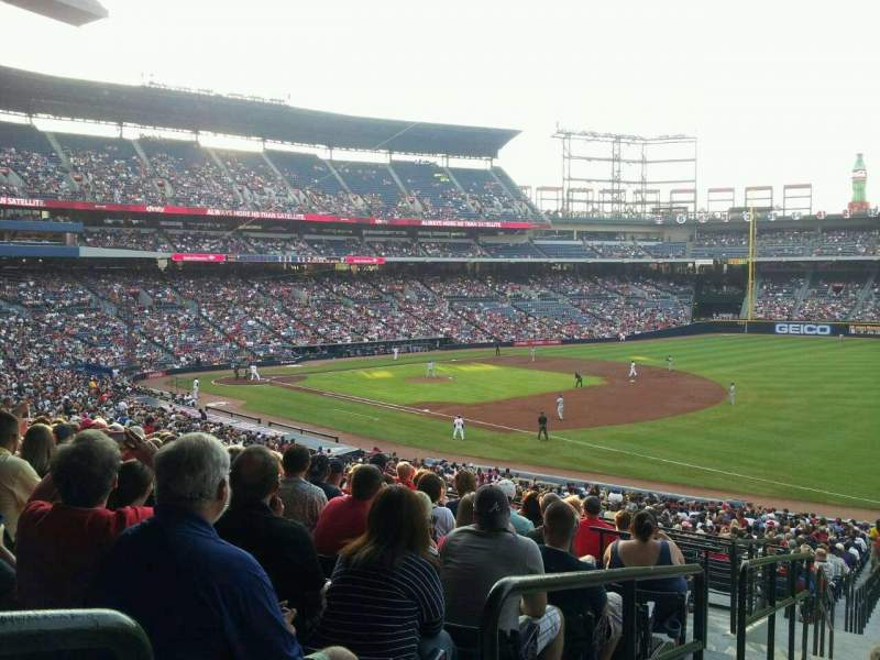 Seating view for Turner Field Section 221 Row 11 Seat 1