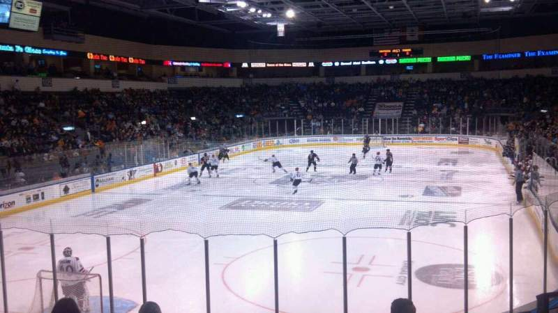 Seating view for Silverstein Eye Centers Arena Section 111 Row M Seat 3