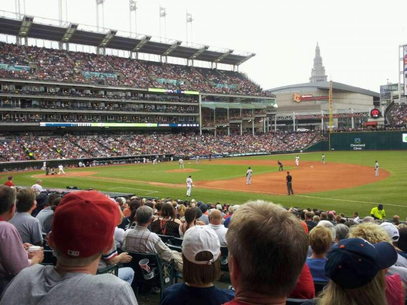 Seating view for Progressive Field Section 134 Row x Seat 8