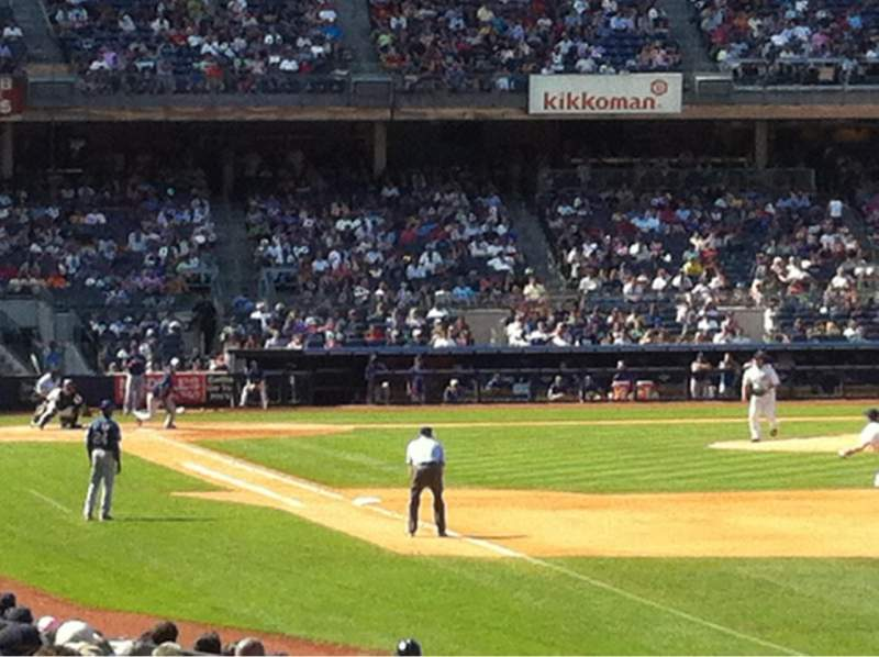 Seating view for Yankee Stadium Section 109 Row 18 Seat 9