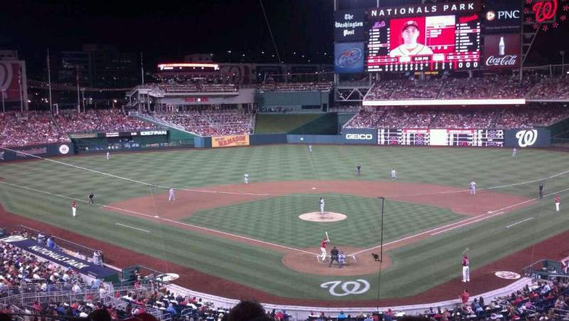 Seating view for Nationals Park Section 213 Row F Seat 7