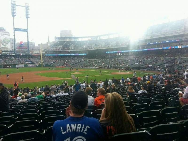 Seating view for Comerica Park Section 136 Row 31 Seat 5