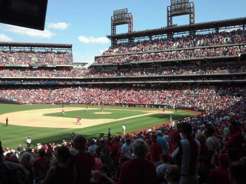 Seating view for Citizens Bank Park Section 135