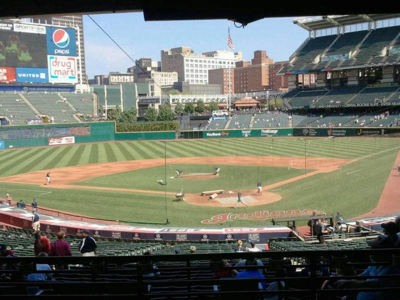 Seating view for Progressive Field Section 255 Row E Seat 6