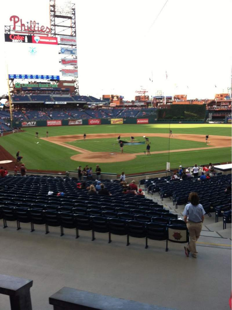 Seating view for Citizens Bank Park Section 122 Row 27 Seat 7