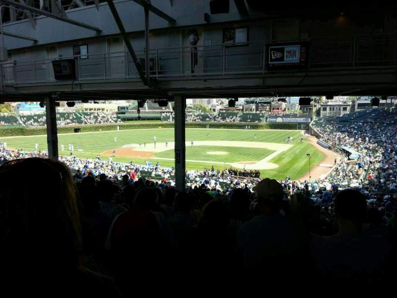 Seating view for Wrigley Field Section 218 Row 22 Seat 14