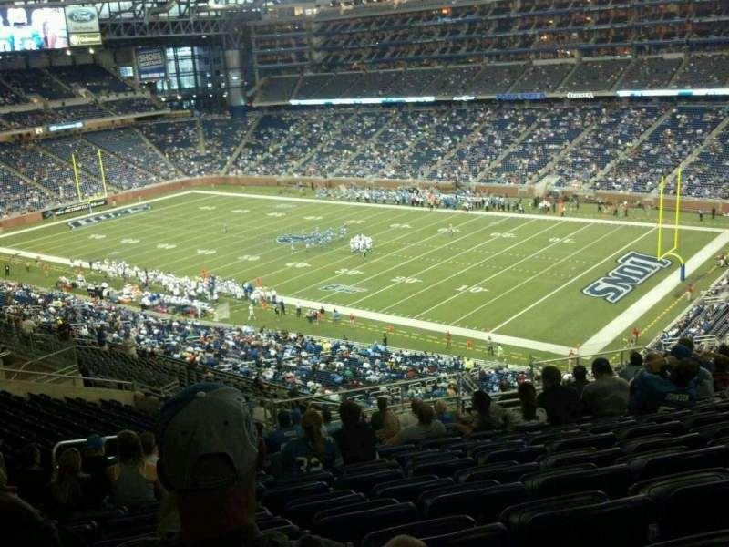 Seating view for Ford Field Section 337 Row 19 Seat 12