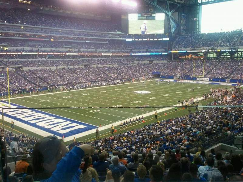 Seating view for Lucas Oil Stadium Section 220 Row 1 Seat 12